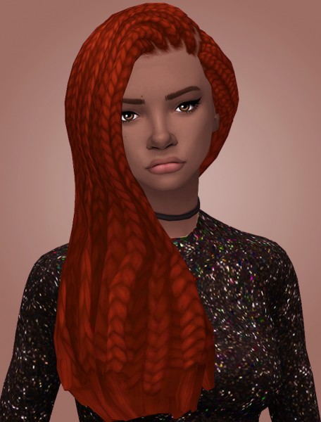 Butterscotchsims: Morning Glory Hair for Sims 4