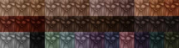 Miss Bunny Gummy: Leh Hairs recolor dump for Sims 4