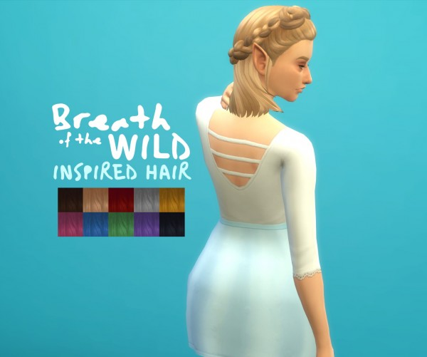 Simsworkshop: Breath of the Wild Inspired Hair by JayCrane for Sims 4