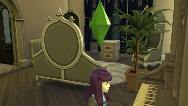 Mod The Sims: Purple Hair by bloodrayne8589 for Sims 4