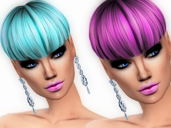 The Sims Resource: Oxygen hair recolored by ZitaRossouw for Sims 4