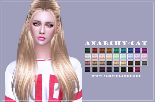 Anarchy Cat: Nightcrawler`s Sugar hair retextured for Sims 4