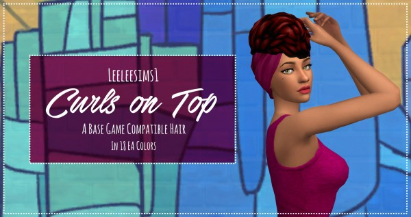 Simsworkshop: Curls on Top hair by leeleesims1 for Sims 4