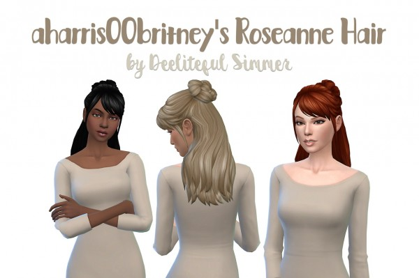 Deelitefulsimmer: Rossana hair recolor for Sims 4