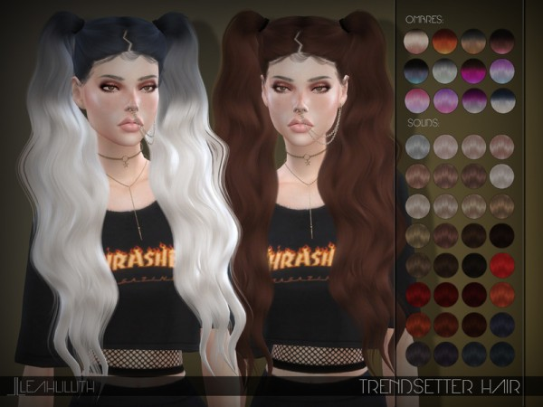 The Sims Resource: Trendsetter Hair by LeahLillith for Sims 4