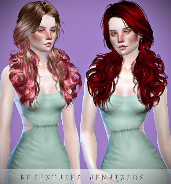 Jenni Sims: Newsea`s Candy Bar Hair retextured for Sims 4