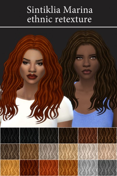 Mod The Sims: Marina Hair   Ethnic Retextured by maimouth for Sims 4