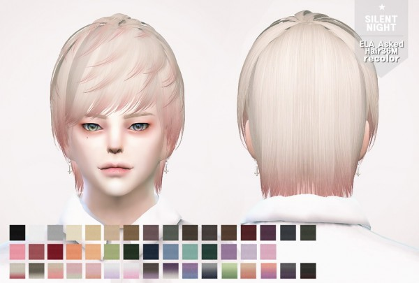 Silent Night: ELA Hair 36M recolor for Sims 4