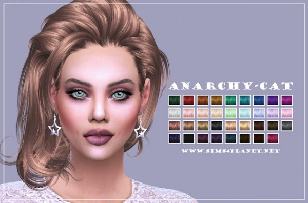 Anarchy Cat: Newsea`s JL43 Crow hair recolor for Sims 4