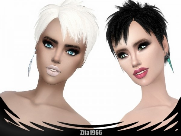 The Sims Resource: Chops hair by ZitaRossouw for Sims 4