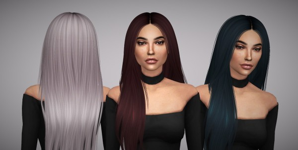 Aveline Sims: Nightcrawler`s Let Loose hair retextured for Sims 4