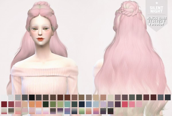 Silent Night: WINGS HAIR ETS1123 F recolor for Sims 4