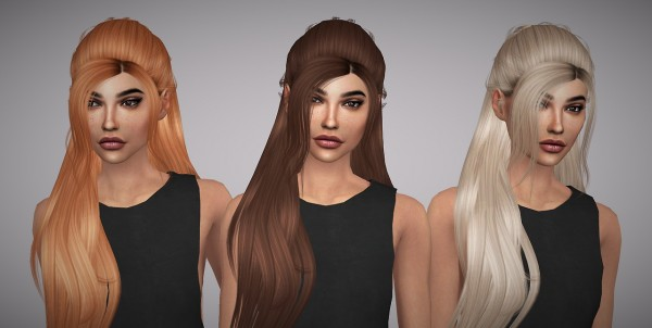 Aveline Sims: Leahlillith`s Focus hair retextured for Sims 4