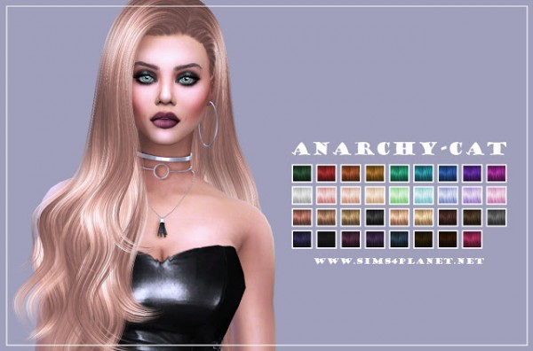 Anarchy Cat: S Club`s Rose hair retextured for Sims 4