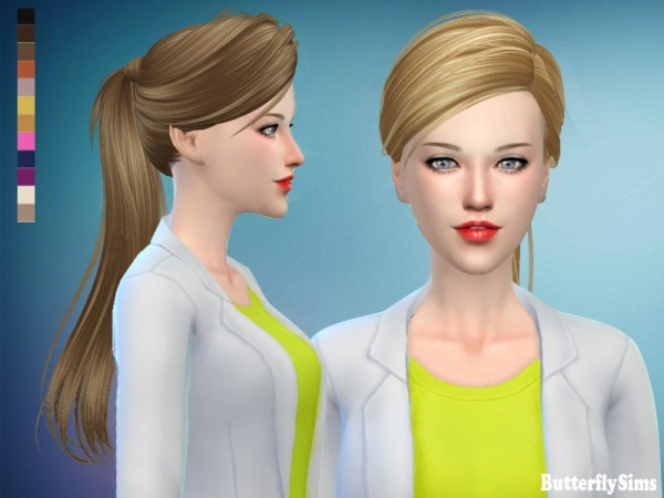 Butterflysims: Hair 102 for Sims 4