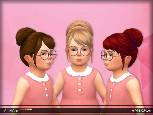 The Sims Resource: Enrique`s Laura Hair retextured by Jruvv for Sims 4