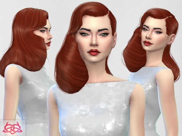 The Sims Resource: Dita Von Teese hair 2 for Sims 4