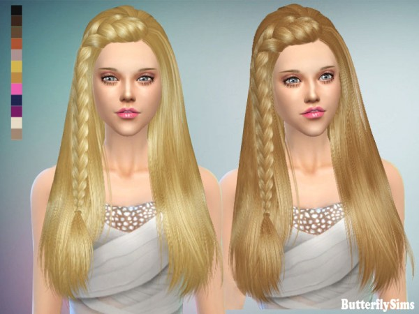 Butterflysims: Hair 152 for Sims 4