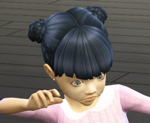 Birksches sims blog: Toddler Braided Twins hair for Sims 4