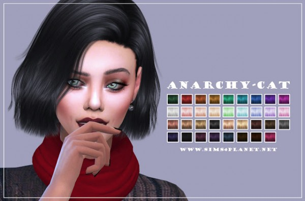 Anarchy Cat: Nightcrawler`s Confetti hair retextured for Sims 4
