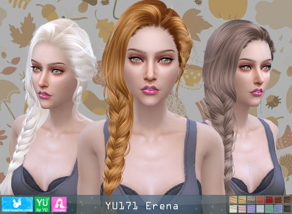 NewSea: YU171 hair for Sims 4