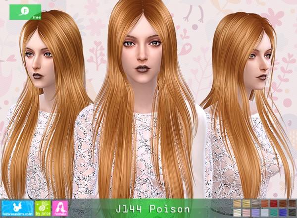 NewSea: J144 Poisson hair for Sims 4