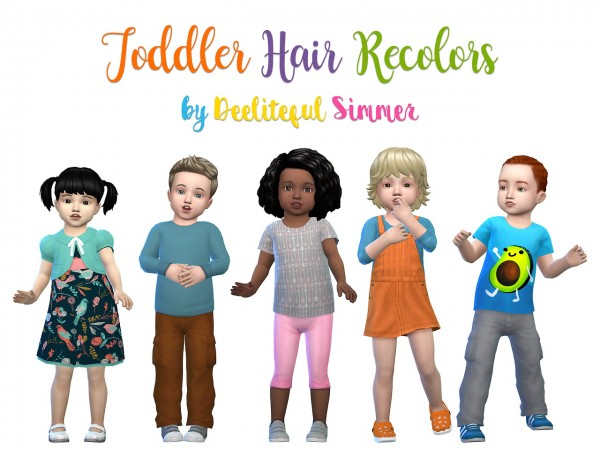 Deelitefulsimmer: Toddler hair recolor for Sims 4
