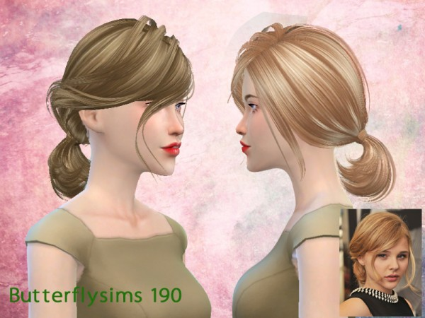 Butterflysims: Hair 190 for Sims 4