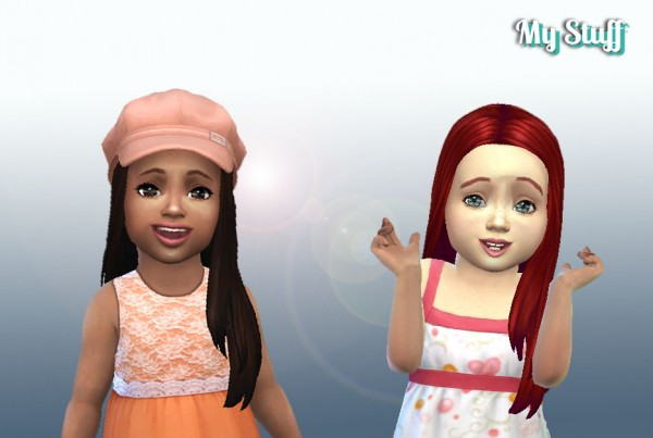 Mystufforigin: Glossy Hair for Toddlers for Sims 4
