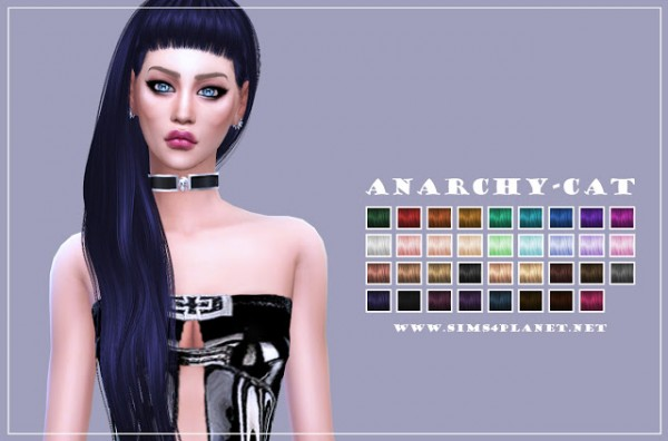 Anarchy Cat: Anto`s Nocturnal hair recolor for Sims 4