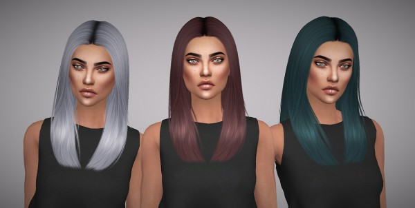 Aveline Sims: Nightcrawler`s Newyorker hair retextured for Sims 4