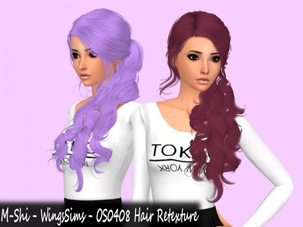 The Sims Resource: WingsSims   OS0408 Hair Retextured by mikerashi for Sims 4