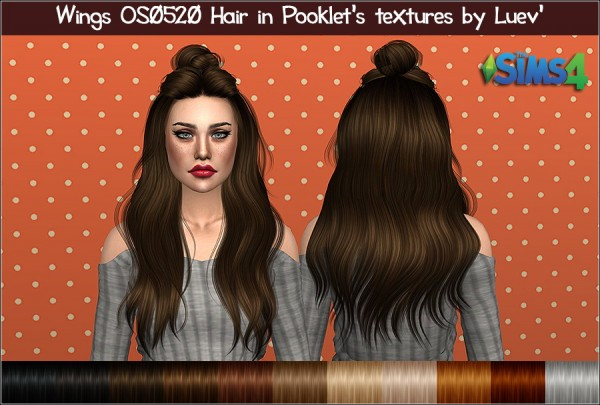 Mertiuza: Wings OS0520 hair retextured for Sims 4