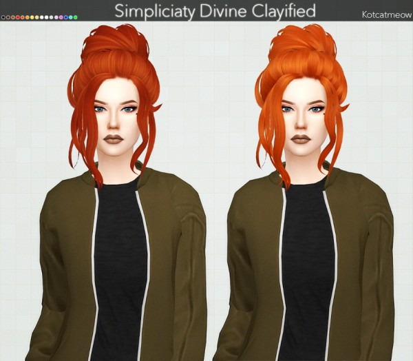 Kot Cat: Simpliciaty`s Divine Hair Clayified for Sims 4