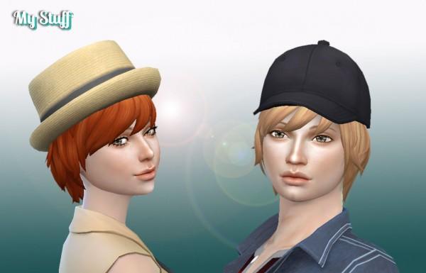 Mystufforigin: Medium Waves hair retextured for Sims 4