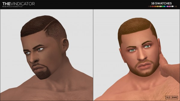 Simsworkshop: The Vindicator 1.0 hair by Xld Sims for Sims 4