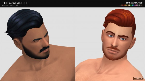 Simsworkshop: The Avalanche 1.0 hair by Xld Sims for Sims 4