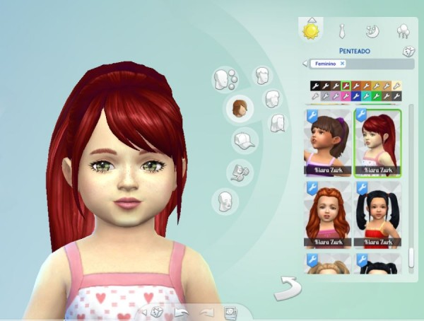 Mystufforigin: Confident Ponytail hair for toddlers for Sims 4