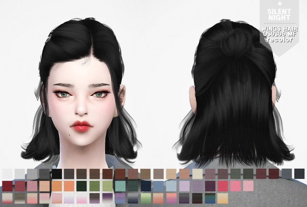 Silent Night: WINGS OS0306 hair recolor for Sims 4