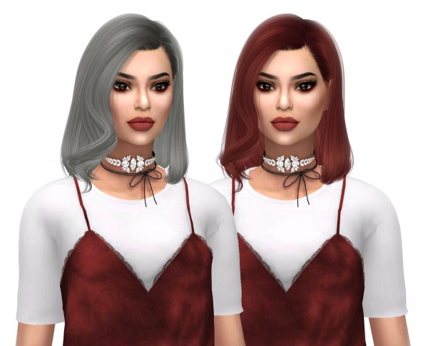 Kenzar Sims: Anto`s Marble hair retextured for Sims 4