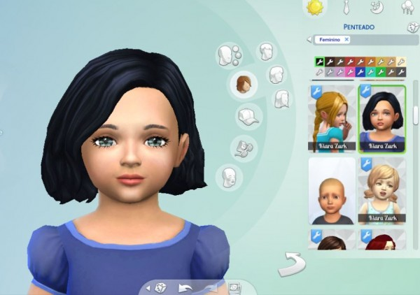 Mystufforigin: Amalia Hair for Toddlers for Sims 4