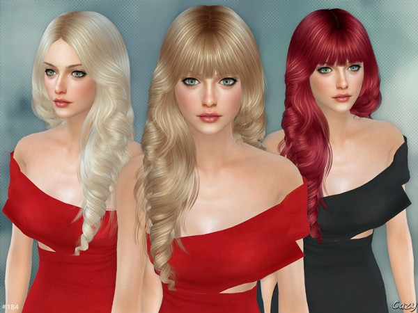 The Sims Resource: Lisa hair set by Cazy for Sims 4