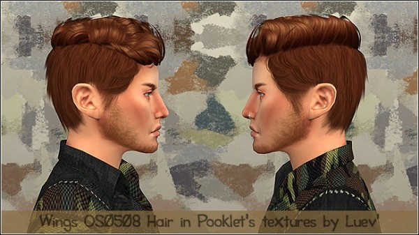 Mertiuza: Wings OS0508 M hair retextured for Sims 4