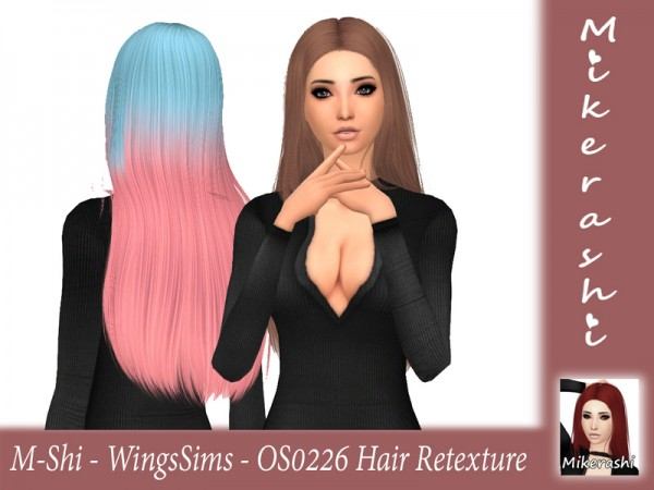 The Sims Resource: WingsSims   OS0226 Hair Retextured by for Sims 4