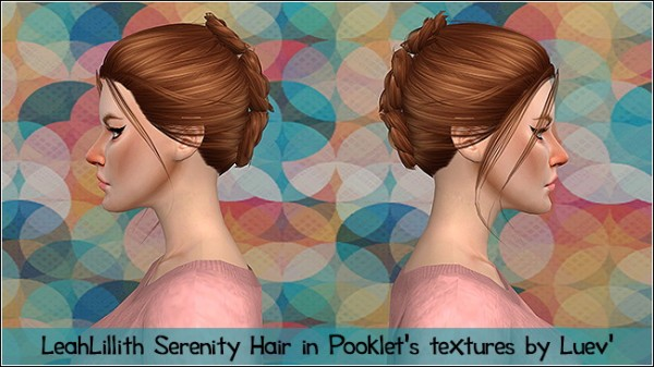 Mertiuza: LeahLillith`s Serenity hair retextured for Sims 4