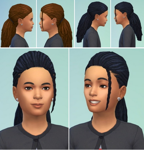 Birksches sims blog: Kiddi's Morning Dreads hair for Sims 4