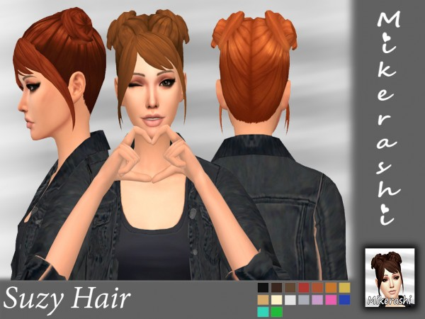 Mikerashi: Suzy Hair for Sims 4
