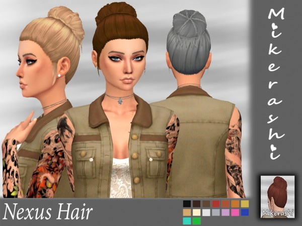 Mikerashi: Nexus Hair for Sims 4