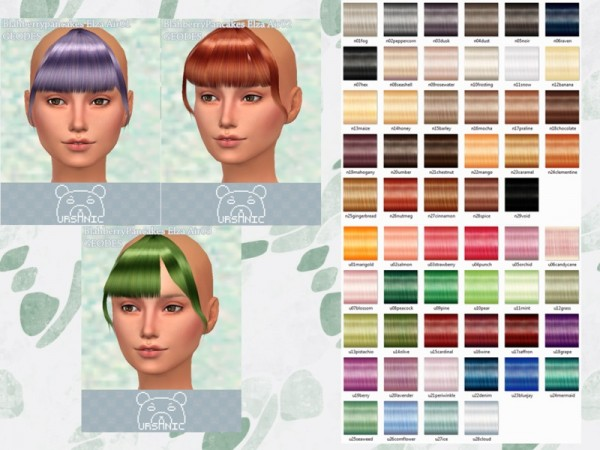 Sims 4 Hairs The Sims Resource Blahberry Pancakes Elza Bangs Geodes Hair Retextured By Ursanic