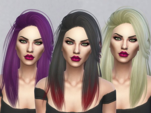 The Sims Resource: Pretty Thoughts hair retextured by Kitty.Meow for Sims 4